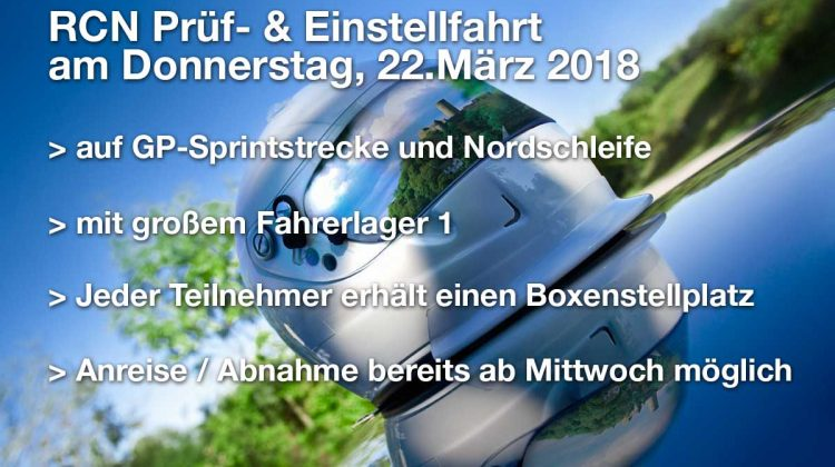 Information zur RCN Prüf- und Einstellfahrt am 22.03.2018